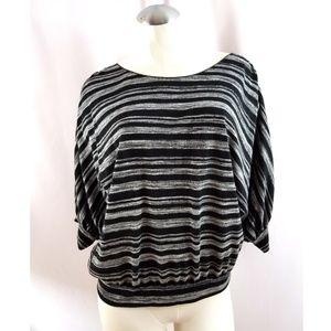 Max Studio Size M Black Gray Knit Top